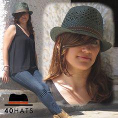 Sombrero trilby #sombrero #hat #moda #mujer #fashion #cute #verano #complementos #summer #chapeau #fedora #trilby #tendencia #trend #sombreros #cowboy