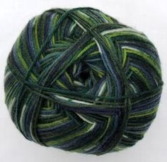 Hot Socks Stripes 4-fach superwash - English green stripes 1661-613, 75% Merino superwash by ColorfullmadeShop on Etsy