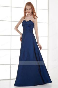 Cheap A-line Floor-length Sweetheart Taffeta Prom Dresses