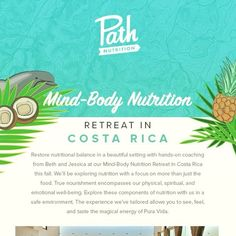A #retreat in #costarica  from the #nutrition experts at @pathnutritionatx…#austin #graphic design #custom #unique  #rcm #rock candy media #advertising #firm