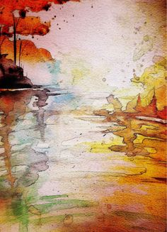 watercolour paint on paper