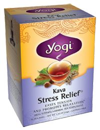 Stress reduction tea - Yogi Kava Stress Relief Tea. I'm not sure about Kava, so my alternatives are ginger and chamomile. They're just as soothing.