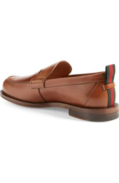 Gucci 'Tobias' Penny Loafer (Men)   Nordstrom Penny Loafers, Loafers Men, Tobias, Grosgrain, Kicks, Oxford Shoes, Dress Shoes, Gucci, Nordstrom