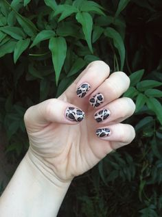 Cheetah Print Nails (again)