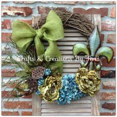 Fleur De Lis grapevine Wreath