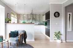 Seks stoler ble til ny førsteetasje - Byggmakker+ Decor, Furniture, Room, Home Decor, Kitchen, Room Divider, Divider