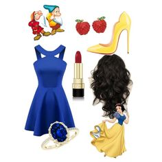 Snow White-Zarah Palmer by zpalmer2015 on Polyvore featuring polyvore, fashion, style, Christian Louboutin, Crystal Avenue, Dolce&Gabbana and 7 For All Mankind