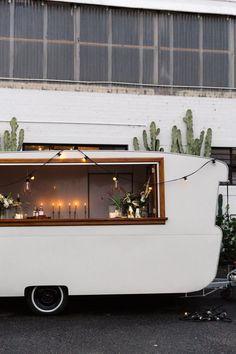 vintage caravan mobile wedding bar