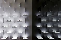 SHANGHAI – Floating within formation, hundreds of glasses are set upon ledges and reflected into oblivion at Bolon's flagship.Already seen as a top lifestyle brand in China, Bolon opts for a theatrical interpretation of its iconic sunglasses for its flagship in Shanghai. With French actress Sophie Marceau as the muse of its campaign, the brand interprets the sophistication into a spatial experience. Polished surfaces – a gold-plated ceiling, blackened walls and white marble floors – envelop…