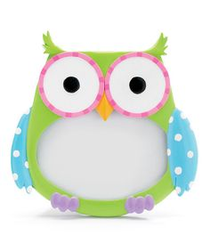 Blue & Green Owl Picture Frame by burton + BURTON ( need to get for my sister when she has kids!)