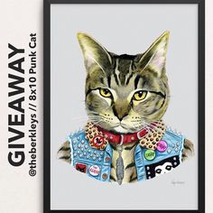 We have teamed up with @theberkleys to give away one of their RAD 8x10 Punk Cat art prints (shown here-frame not included) to a lucky one of YOU!  How to enter? 1 - MUST Follow @hellolovehandmade & @theberkleys  2 - Tag a friend(s) below to tell them about this great giveaway! Each tag is an additional entry! 3 - Giveaway ends at midnight CST  winner will be announced on this post tomorrow  Giveaway open to U.S. entrants only  Cant wait? Use #PROMO: HELLOTHERE for 20% OFF for 1 week…