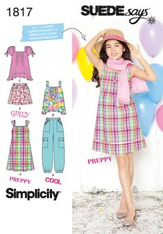 Simplicity Creative Group - Girls' & Girls' Plus Sportswear SUEDEsays Collection. THe pants pattern-minus the pockets.