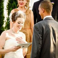 """12 Tips to Writing Your Own Wedding Vows, from The Knot.  I like the idea of a """"vow date""""."""