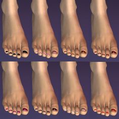8 Recolours Of Bloom S Toe Nail Accessory Accessories Sims 2