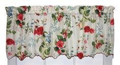 Botanical floral crushed taffeta fabric valance window curtain is a semi sheer valance window treatment made from light weight crushed taffeta fabric featuring a garden floral design print. Valance Curtains, Botanical Floral Prints, Curtains, Floral Prints, Window Toppers, Home Decor, Sheer Valances, Curtain Styles, Dining Room Windows