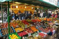 Notting Hill farmer's market. A great place to find veg and fruit and the likes.