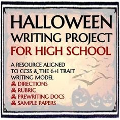 This project calls on students to write a narrative inspired by Halloween.  Their narrative should depict a conflict that features supernatural characters, elements, etc.  Students should achieve an eerie tone and include at least one allusion to Halloweens history (researched separately).