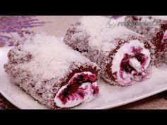 Szultán tekercs - YouTube Food Decoration, Food And Drink, Sweets, Cookies, Meat, Baking, Advent, Drinks, Youtube