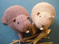 Knitted Liam's Beaver - Free Knitted Pattern - (ravelry)