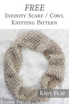 {FREE} Infinity Scarf Cowl Knitting Pattern – Knitting Patterns For Men Snood Knitting Pattern, Easy Scarf Knitting Patterns, Infinity Scarf Knitting Pattern, Scarf Patterns, Stitch Patterns, Crochet Patterns, Knitting For Kids, Knitting For Beginners, Free Knitting