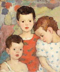 Three Brothers (The Painter's Children) Nicolae Tonitza, Post Impressionism Post Impressionism, Art Database, Portraits, Love Drawings, Woman Painting, Salvador Dali, Banksy, Art Boards, Art For Kids