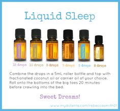 doTERRA Essential Oils Liquid Sleep - you will sleep like a baby!