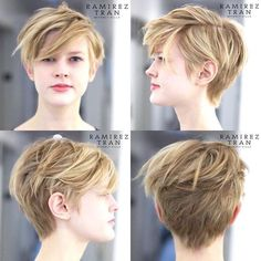 Today we have the most stylish 86 Cute Short Pixie Haircuts. Pixie haircut, of course, offers a lot of options for the hair of the ladies'… Continue Reading → Short Pixie Haircuts, Hairstyles Haircuts, Pretty Hairstyles, Girl Short Hair, Short Hair Cuts, Androgynous Haircut, Cut My Hair, Hair Today, Hair Trends