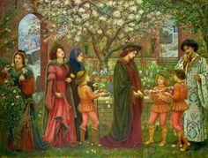 Maria Euphrosyne Spartali - The Enchanted Garden of Messer Ansaldo. 1889