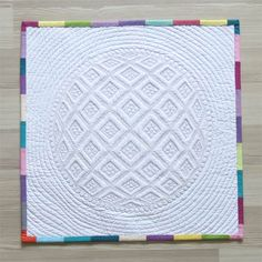 This is the back of the miniature quilt.  Geta's Quilting Studio: Miniature Quilt