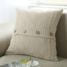#Valentines #AdoreWe #Zapals - #Zapals 45 x 45cm Cotton Knitted Crochet Pillow Cushion Covers - AdoreWe.com