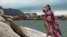 New Psych. Printed Bikini New style bandeau with removable straps and Midi-High boy-leg bottoms  Photography : @yuvikphoto Model :Rio Hooper  #bikini #colourful #print #swimwear #photoshoot #photography #CapeTown #SouthAfrica #model