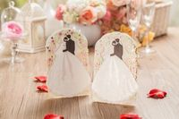 Personalized Laser Cut bride groom wedding party invitation card
