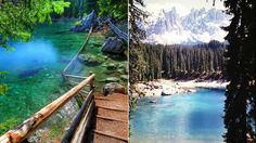 Lake Carezza in Italy - Next Trip Tourism Italy Tourism, Garden Bridge, Cool Watches, Railroad Tracks, Around The Worlds, Museum, Outdoor Structures, Tourism In Italy, Museums