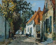 Jan van Vuuren (Molenaarsgraaf 1871-1941 Ermelo) Straatje te Elburg