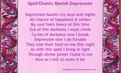 Banish Depression Chant