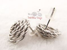 Wire Wrap Rose Earrings - the studs, no soldering involved