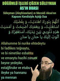 Suleiman (Aleyhisselam) in Mecsidi Aksa 's door opens with him the prayer Haseni Basri (radiyallahu anhu) said that; Duaa Islam, Allah Islam, Islam Quran, Islamic Dua, Islamic Quotes, Learn Turkish Language, Learn Quran, Islam Facts, Wedding Quotes