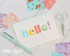 Quick Fabric Cards - A Spoonful of Sugar