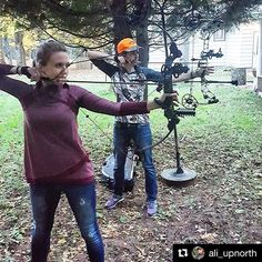Anyone else get to do some archery this weekend?  #Repost @ali_upnorth with @repostapp ・・・ Getting a few shots in after work with @tonia_schueller! Who is ready for the weekend already?! :raising_hand: