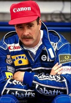 Nigel Mansell in Germany, 1991. Mansell rejoined Williams after declaring his retirement at Ferrari. Frank Williams called Nigel and asked him to return to Williams!