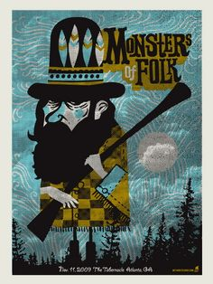 Monsters of Folk concert poster by Methane Studios