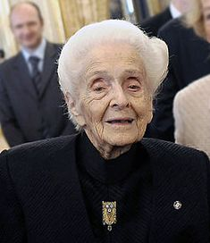 Rita Levi-Montalcini, Knight Grand Cross, is an Italian neurologist who, together with colleague Stanley Cohen, received the 1986 Nobel Prize in Physiology or Medicine for their discovery of nerve growth factor. She is the oldest living recipient at 103 (born April 22, 1909)