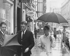 Richard Burton and Elizabeth Taylor in London during the 1960s