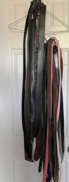 ByTheR Hook Buckle Skinny Thin Belt Black Leather Basic Vintage 28-34 inch