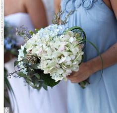 Blue Bridesmaid Bouquets