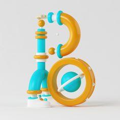 VAGO . on Behance 36dyasoftype type 3d illustration