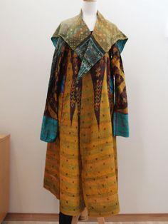 Silk A-Line Flare Coat - MIEKO MINTZ