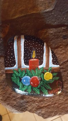 christmas paintings 100 Gorgeous DIY Stone, Rock, and Pebble Crafts To Beautify Your Life - Usefull Information Rock Painting Patterns, Rock Painting Ideas Easy, Rock Painting Designs, Pebble Painting, Pebble Art, Stone Painting, Pebble Stone, Stone Crafts, Rock Crafts