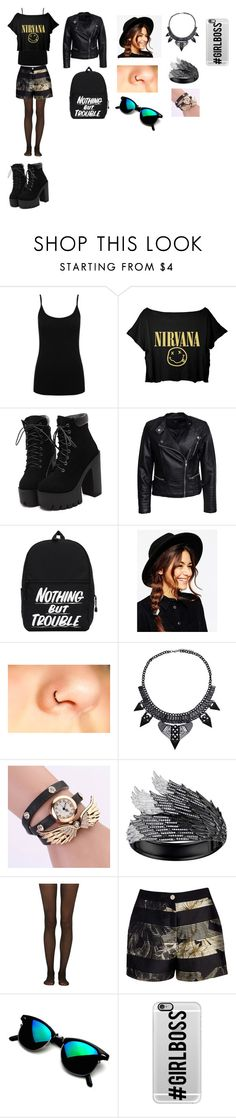 """Nirvana"" by camelia-kaylahana on Polyvore featuring M&Co, Sisters Point, ASOS, AS29, Fogal, Ted Baker and Casetify"