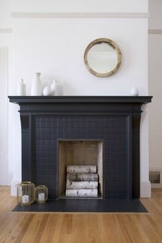 Terrific Absolutely Free Fireplace Remodel mantle Tips Decorating Ideas: 5 Ways Black Tiles Can Look Amazing at Home Black Tiles, Home, Marble Fireplaces, Black Fireplace, Tile Trends, House, Black Grout, Fireplace, Fireplace Design